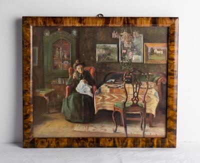 Interiør (repro av maleri fra 1904, malt av Jacob K.Sømme)