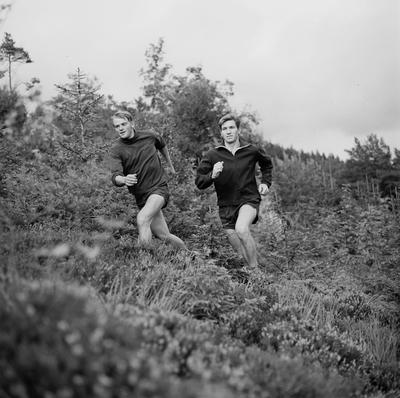 Dette er Harald Mjølne (til venstre) og Knut Bjørn Vagle bruker fritiden til. Bildet er tatt under trening umiddelbart etter arbeidstid en kveld i august.
