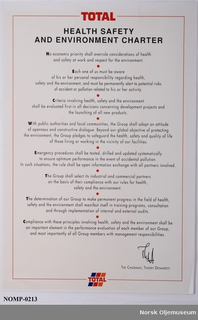 HEALTH SAFETY AND ENVIRONMENT CHARTER