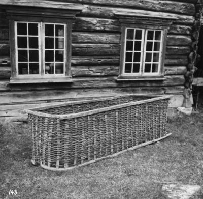 Trekullskorg ved Meldal Bygdemuseum
