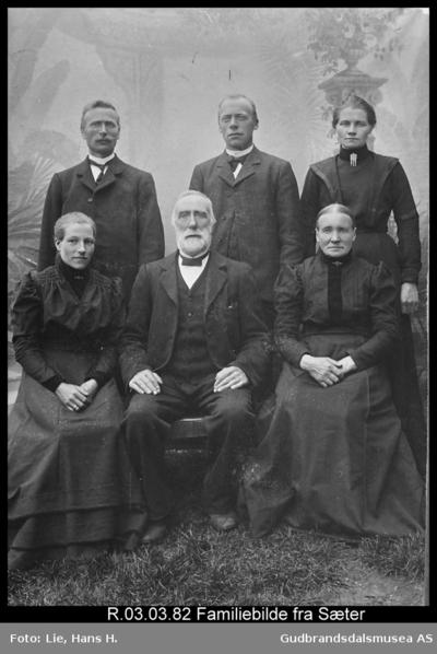 Familiebilde fra Sør-Bø