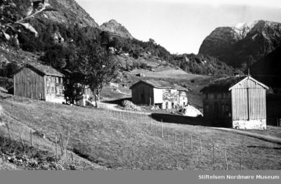 Gårdsbruk med to bolighus og en låve