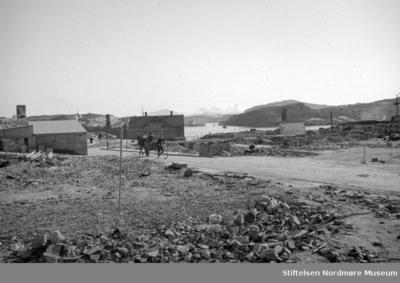 Kirkelandet i kristiansund etter bombingen av byen