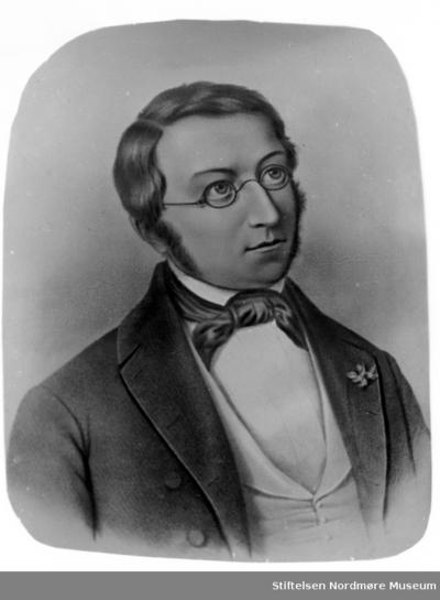 Tegnet portrett trolig av Henrik Wergeland (f