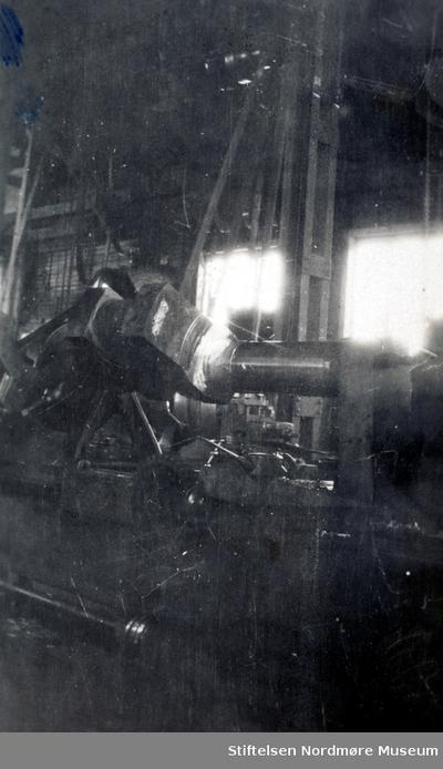 Foto fra et mekanisk verksted