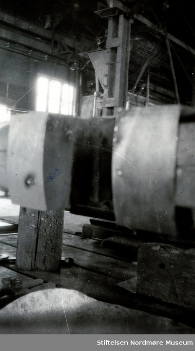 Foto fra en av maskinene ved Storvik mekaniske verksted på Dale