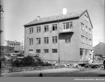Foto fra gjenreisningen av Kristiansund