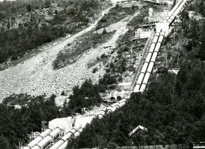 Røyrgata på Rud Kraftstasjon