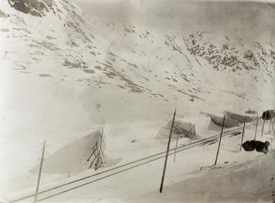 Fra Bergensbanens høyfjellsstrekning mellom Finse og Haugastøl