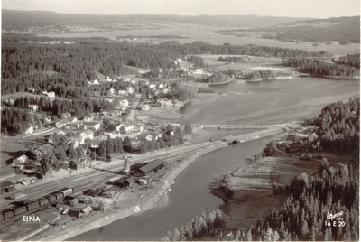 Flyfoto fra Eina sentrum