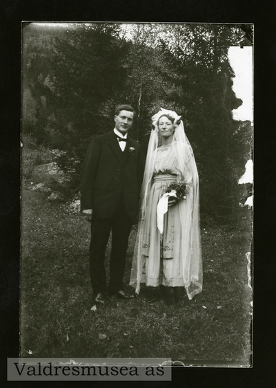 Brudefoto av Martin og Marie Leite