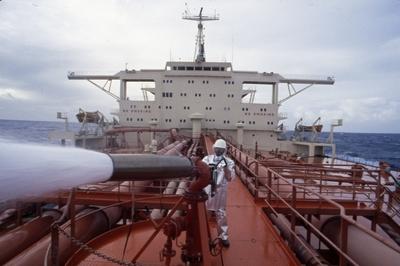 Brannøvelse ombord i T/T 'Wind Eagle' (b