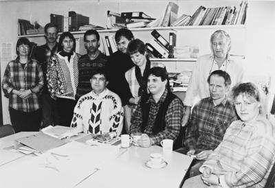 Lærere på Hakadal ungdomsskole i mars 1996 synes de har for liten plass