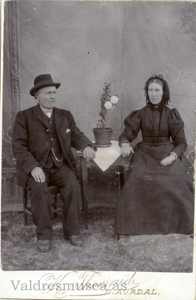 Alf Olsen Listrud og kona Ingrid