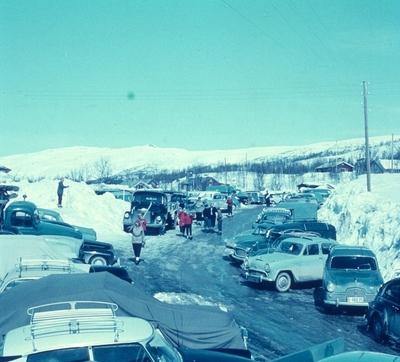 Parkeringsplassen på Myrland
