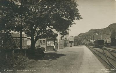Egersund jernbanestasjon i Egersund sentrum