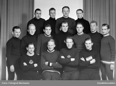 Gruppe 15 skøyteløpere norske