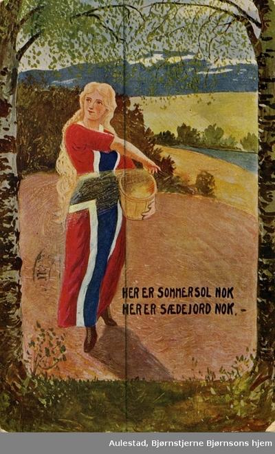 Postkort med Bjørnsonsitat