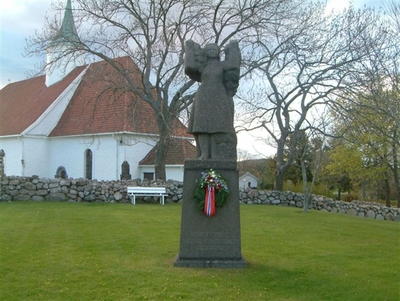 Skulptur for de falne fra Tjølling