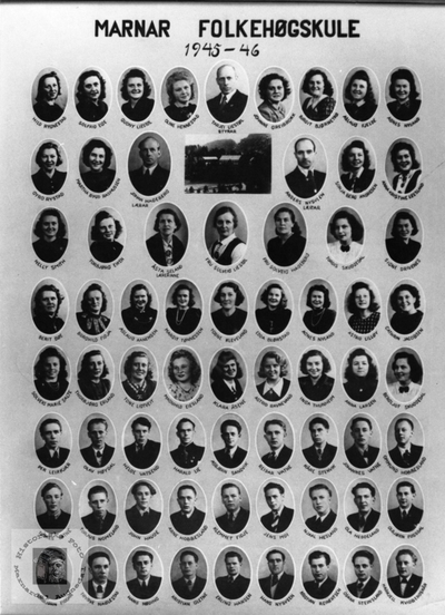 Marnar Folkehøgskole 1945-1946