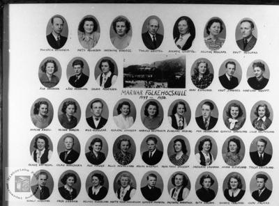 Marnar Folkehøgskole 1949-1950 Øyslebø