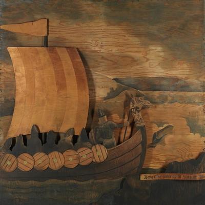 Kong Olav seiler op til Sarp år 1016