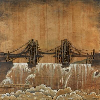 I 1854 bygges den første bro over fossen