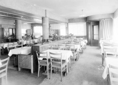 Interiøret på restaurant Bjørnen i Nygårds gaten