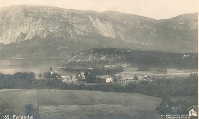 Postkort Fyresdal sentrum og Hamaren