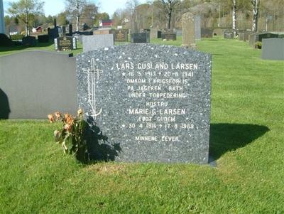 Gravmonument over Lars Gusland Larsen
