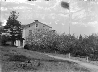 Enköping, Familjen Herkes hus Drottninggatan 3 A, sett från norr.