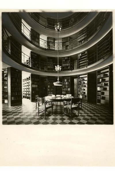 Handelshögskolan Interiör av bibliotek