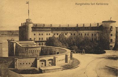 Vykort på Kungsholms fort