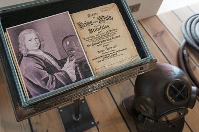 Dokumentation av Marinmuseums utställning Dykeriets historia.