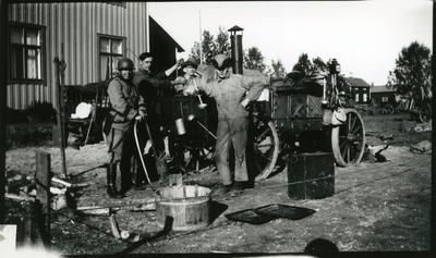 Kokvagn m/1916. Västerbottenmanövern, Sjöland.