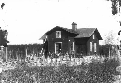 Spånäs skola i Västansjö. Skolan byggdes av Anders Andersson år 1878.