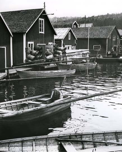 Fiskeläge i Norrfällsviken, Ångermanland.