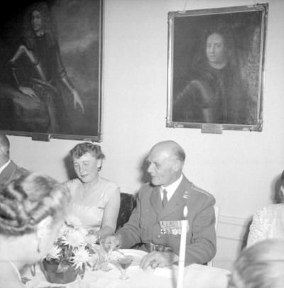 Årets höjdpunkt på mässen var den traditionstyngda Höstmiddagen med fruar. Mj Gustav Fritz.