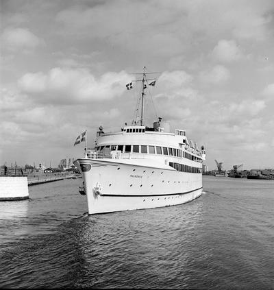 Tågfärjan Malmöhus i Malmö hamn. Levererades i oktober 1945 till SJ Färjetrafik, Malmö. 1945 insatt mellan Malmö - Köpenhamn.