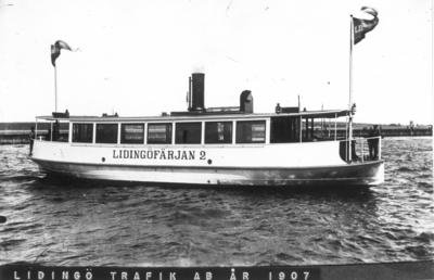 Lidingöfärjan 2, byggd 1907 vid Gävle Varv.