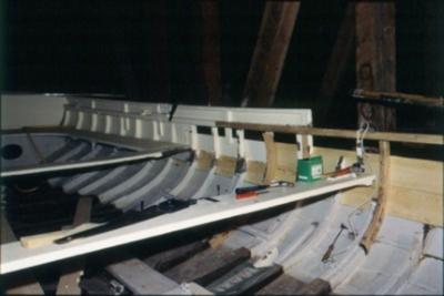 skador på bark, uppkomna i samband vid angöring utanför slup o barkasskjulet på stumholmen