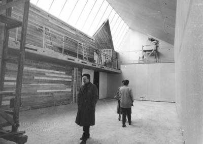 Lunds konsthall Interiör, under byggnation, med Klas Anshelm