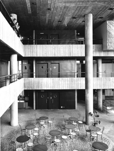 Yrkesskola, S:t Görans gymnasium Ljushall, Mariebergsgatan, Kungsholmsgatan. Interiör