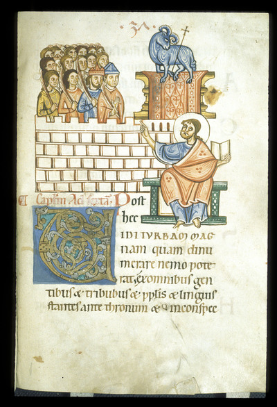 All Saints' day from BL YT 2, f. 38
