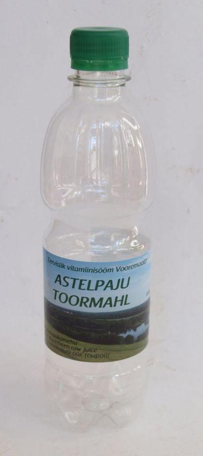 Astelpajumahla pudel