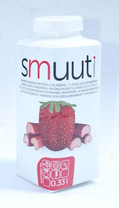 Pakend rabarberi-maasikasmuutile