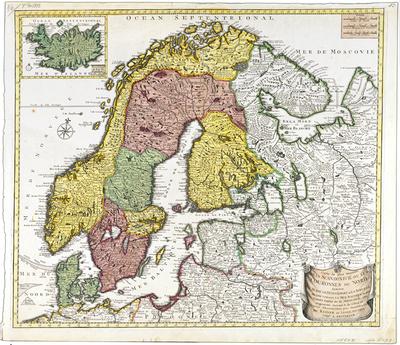 korografinen kartta Suecia, Danie et Norvegia