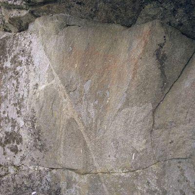 Heinäveden Vierunvuoren kalliomaalaus (osa)