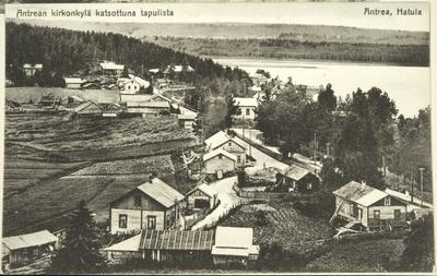 Antrean kirkonkylä kellotapulista katsottuna