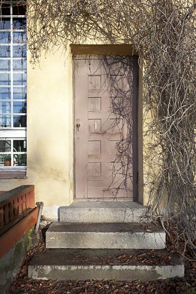 Hvitträskin etelä-terassin ovi